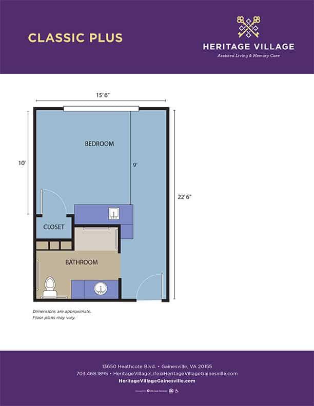 <h3>Classic Plus - 360 sq.ft.</h3>