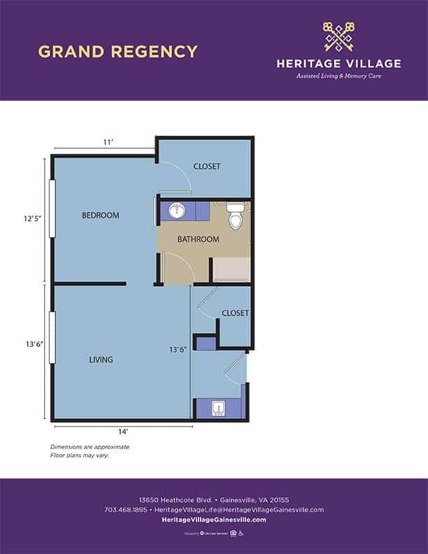 <h3>Grand Regency - 600 sq.ft.</h3>