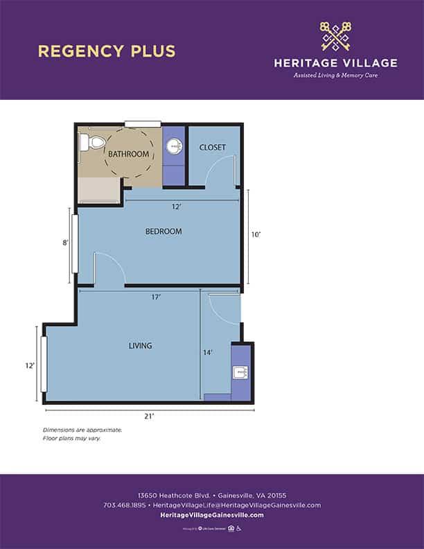 <h3>Regency Plus - 520 sq.ft.</h3>