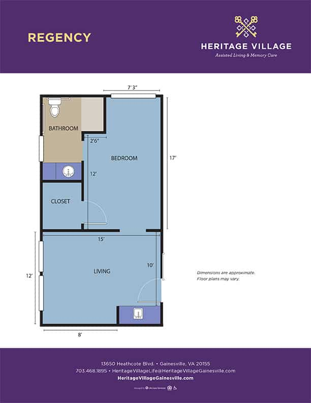 <h3>Regency - 460 sq.ft.</h3>